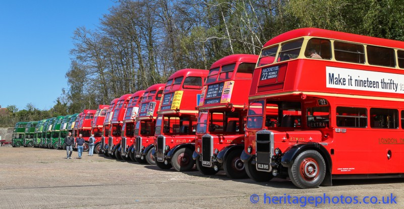 RT75 buses at Brooklands Museum